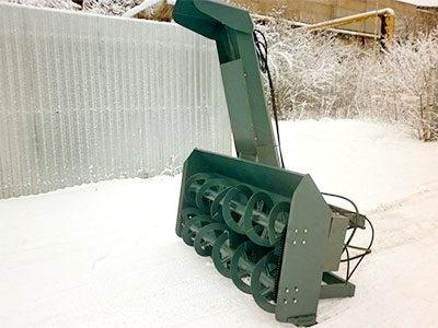 Шнекторный снегоочиститель