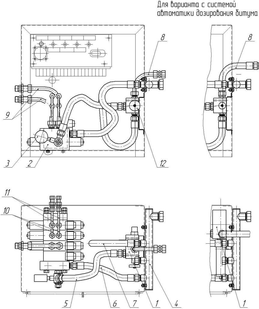 Шкаф управления оборудованием автогудронатора