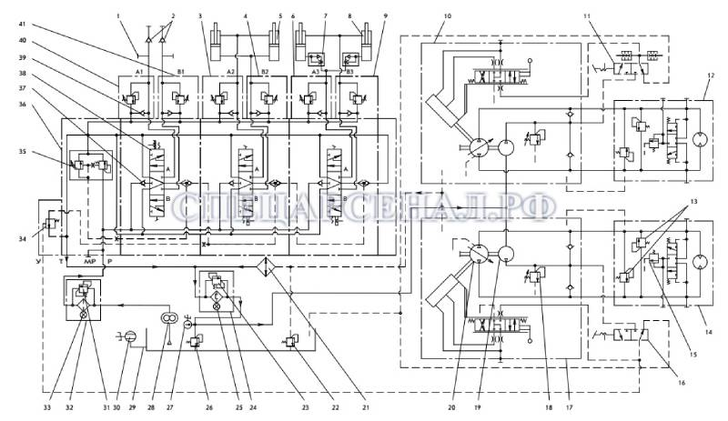 гидросхема мксм-800