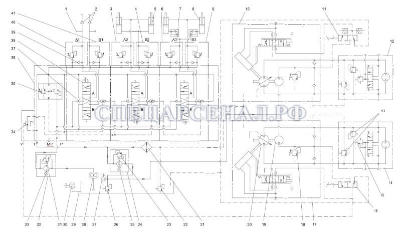 схема гидравлики мксм-800