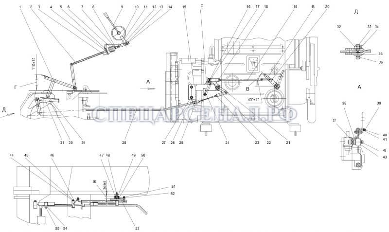 схема подачи топлива мксм-800